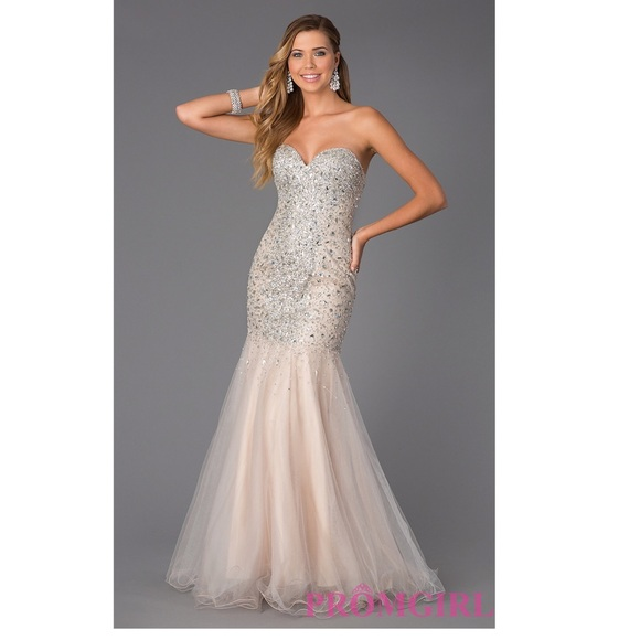 55bf40c522 Jeweled Strapless Prom Gown Glamour by Terani. Boutique. Terani Couture