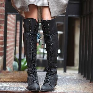 Free People x Jeffery Campbell Joe Lace Boots