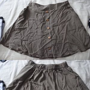 Necessary Clothing Dresses & Skirts - Olive Green Skirt
