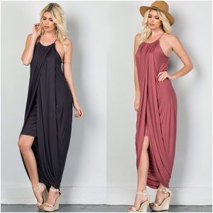 Layered Skirt Maxi Dress