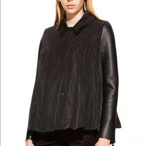 Hache Jackets & Blazers - Black pleated jacket