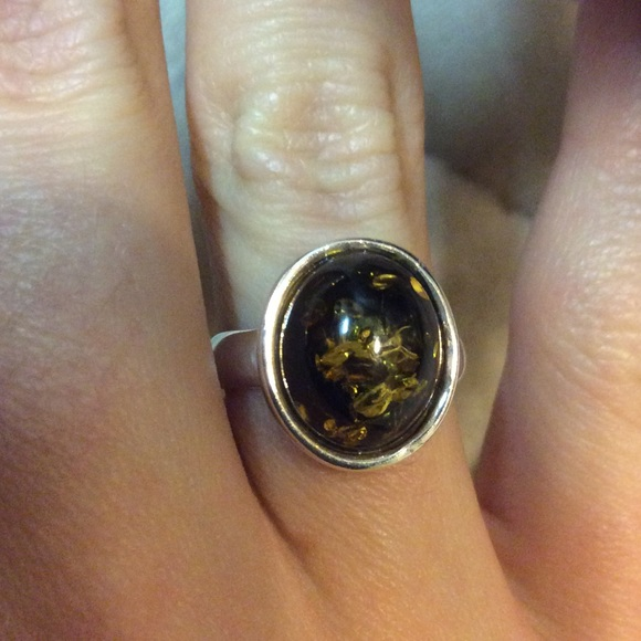 10e56cf94 Jewelry | 925 Sterling Silver Mood Ring Amber Statement | Poshmark