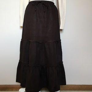 Lands' End Dresses & Skirts - 🦋 SALE! LANDS' END Linen Skirt Dark Brown NWT