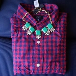J.Crew Embellished With Squares Statement Necklace