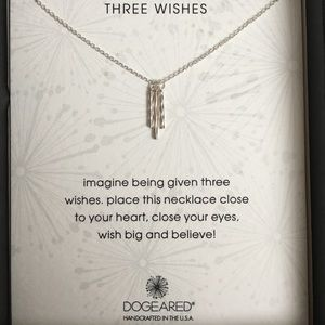 SALE Three Wishes Necklace in Sterling Silver