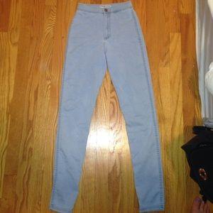 aa xs lightest denim high waisted jeans OBO