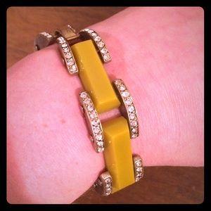 J. Crew Jewelry - J. Crew Yellow Rhinestone Bracelet