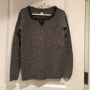 JCREW mixed lambswool sequined sweater