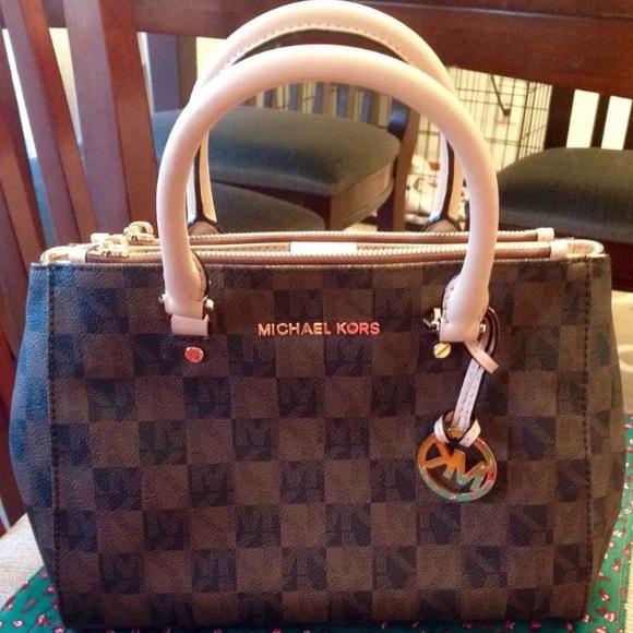 cd9e0c9a1aac Michael Kors Bags | Checkered Sutton Handbag | Poshmark