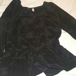 Tops - Black peplum shirt