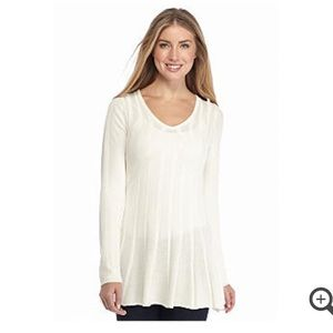 Sophie max Sweaters - 🆕 White V-Neck Tunic Sweater