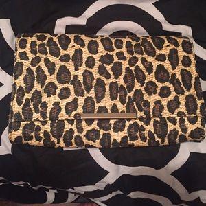 H&M Handbags - Leopard H&M clutch!