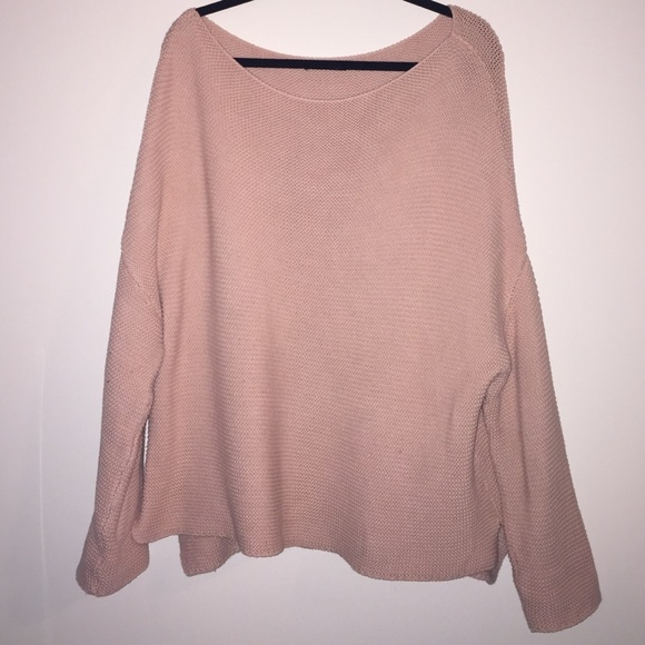 73% off Zara Sweaters - Zara knit oversized light pink sweater ...