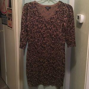 Alyx Dresses & Skirts - A leopard print dress in a size medium