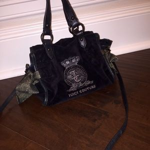 Authentic Juicy Couture Cross Body Black Swede!