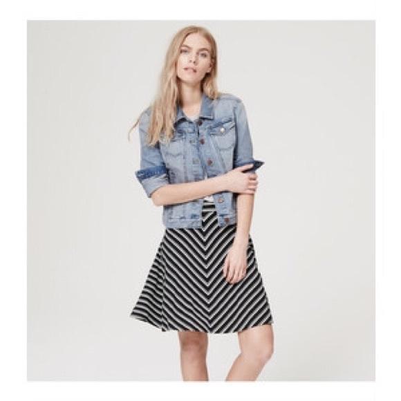 e4e29ce1d5 LOFT Dresses & Skirts - LOFT Chevron Circle Skirt