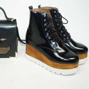 Jeffrey Campbell Boots - Jeffrey Campbell kreppel leather platform sz 8