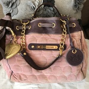 Juicy couture limited edition velvet bag pink