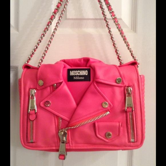 f6eb30a0d2 Moschino Bags | Biker Jacket Bag Pink Rare Runway Bag | Poshmark
