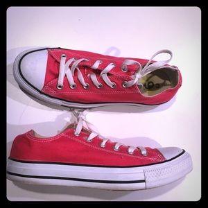 Converse Shoes - Hot pink Chuck Taylors