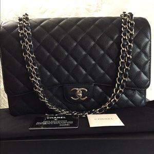 7daa96e4e300 CHANEL Bags | Sold Out Caviar Maxi Double Flap In Black | Poshmark