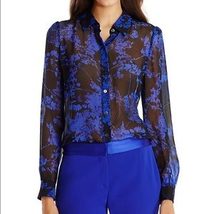 DVF Mariah Chiffon Button Down