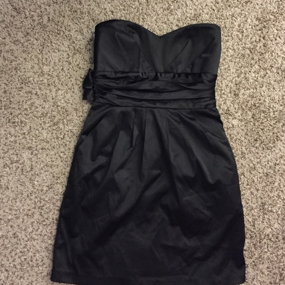 Mind Code Dresses Short Black Strapless Dress Poshmark