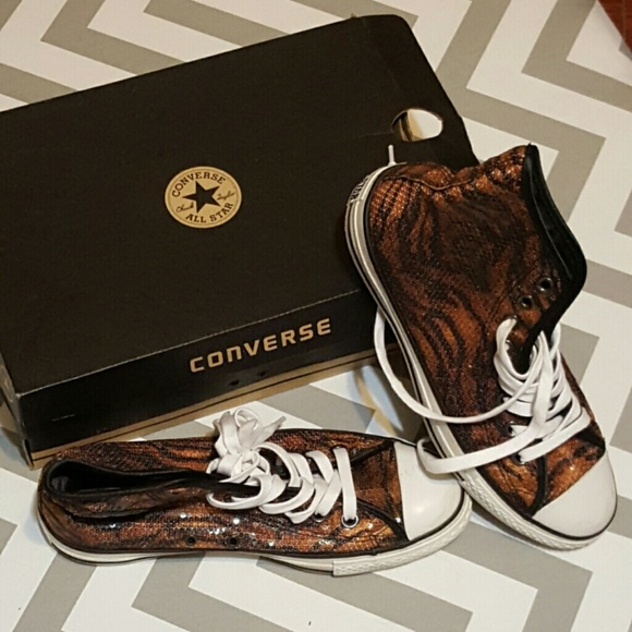 67ac5d3df1ae Converse Shoes - Converse Sequined Tiger Print HiTops