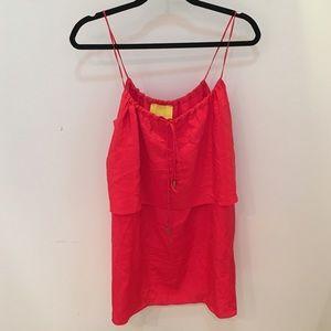 Aaron ashe Dresses & Skirts - Aaron ashe silk orange/red dress