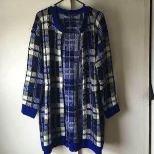 ModCloth Sweaters - Modcloth Blue Plaid Cardigan