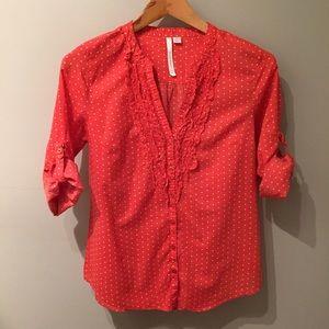 Lauren Conrad Small lightweight polka dot blouse