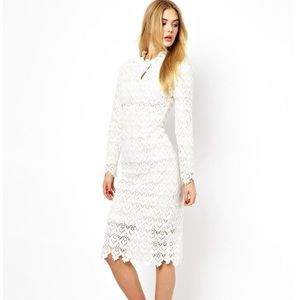 ASOS Dresses & Skirts - ASOS Arrogant Cat Lace Midi Dress