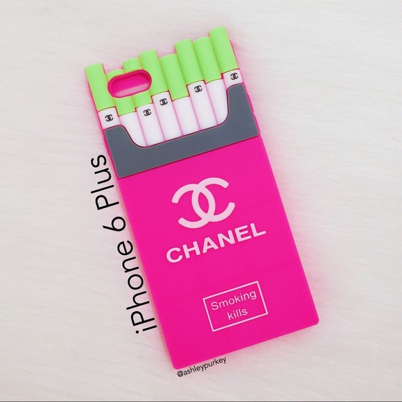 low priced 223f6 5beb5 pink and green smoking kills iPhone 6 Plus case NWT