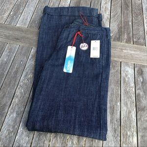 AG The Deco Adriano Goldschmied Wide Leg Jeans NWT