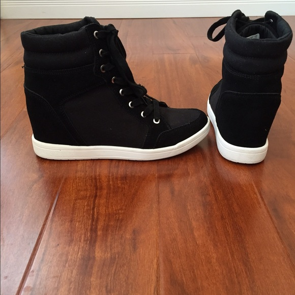 760b8dca7c1 DKNY Shoes - DKNY Hi-Top hidden wedge sneakers