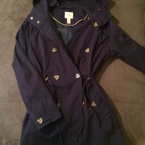 Bass Classic navy trench