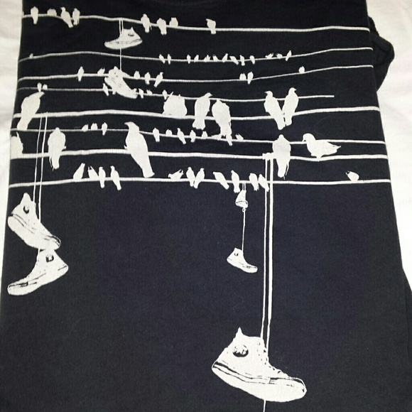 Converse Tops | Leaving Soon Chucks On The Wire Tshirt | Poshmark