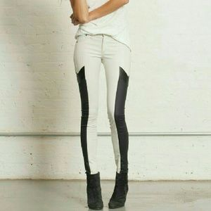 Rag & Bone Grand Prix Leather Panel Leggings 