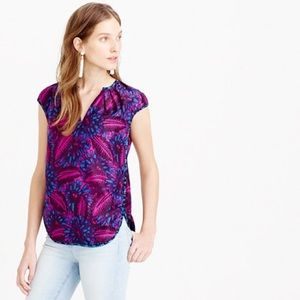 J. Crew Tops - Midnight Floral Cocoon Top