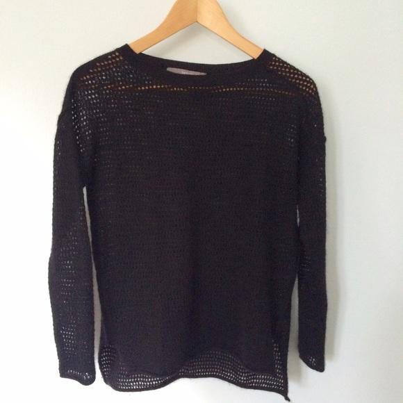 360 Sweater Sweaters - Black Cashmere Net Sweater