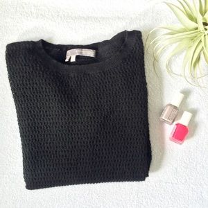 Black Cashmere Net Sweater