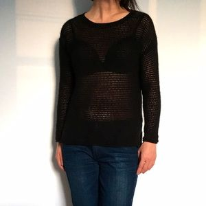 360 Sweater Sweaters - Black Cashmere Net Sweater
