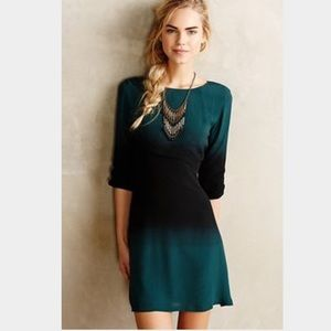 Forest green Anthropologie dress