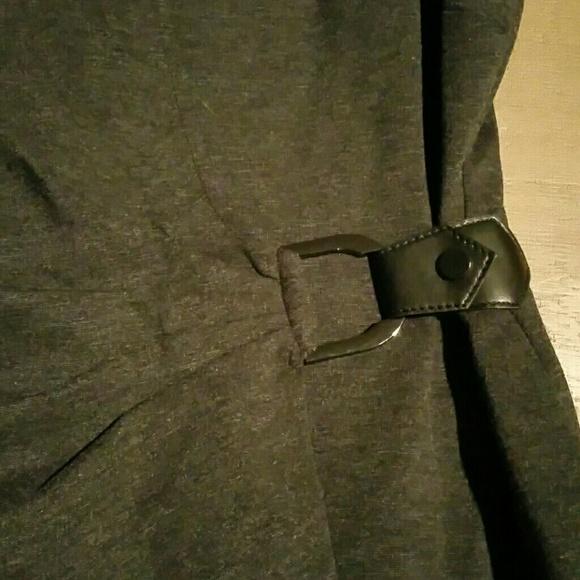 Cache Dresses - Dk Heather grey Cache faux wrap dress zipper back