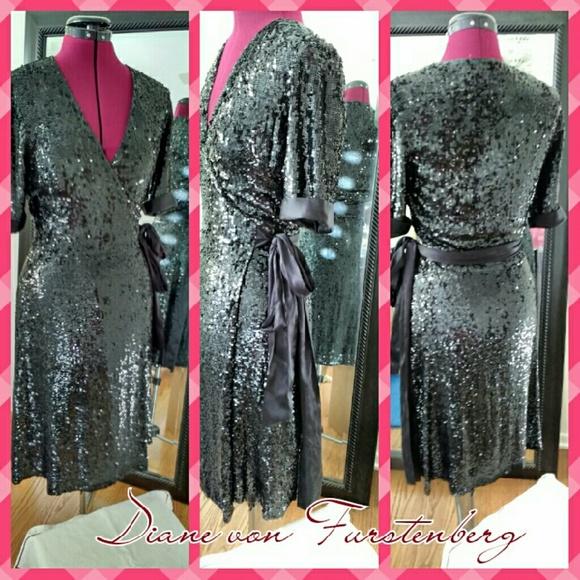 4b6c6bba1a1d2 Diane von Furstenberg Dresses & Skirts - Veruca Classic DVF sequined wrap  dress