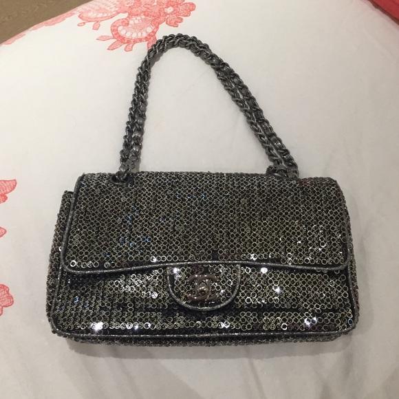 c9ab2c708a36 CHANEL Bags | Silver Sequin Flap Bag | Poshmark