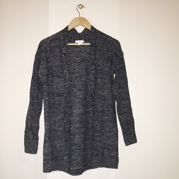 64% off H&M Sweaters - H&M Long Dark Grey Cardigan from ...
