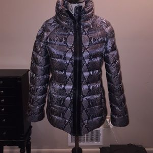 DVF Size small snake skin puff coat