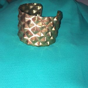 H&M Gold Hammered metal Cuff