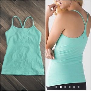 Lululemon Power Y tank top light blue Tiffany